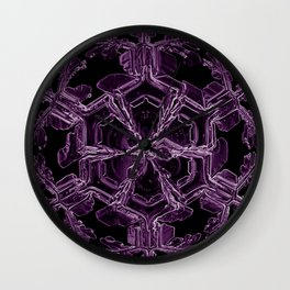 Water Turns Amethyst Wall Clock