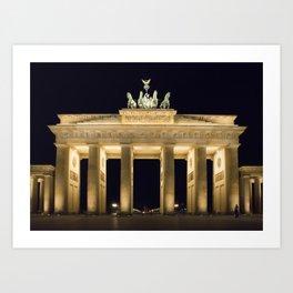 Brandenburg Gate At Night Art Print