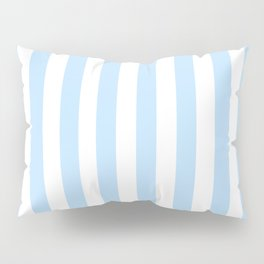 Classic Seersucker Stripes in Blue + White Pillow Sham