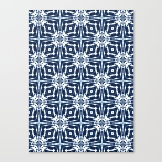 Watercolor Shibori Indigo Canvas Print