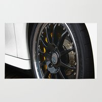 porsche Area & Throw Rugs featuring Porsche Wheel by loveydovey