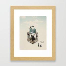 Feed the bear Framed Art Print