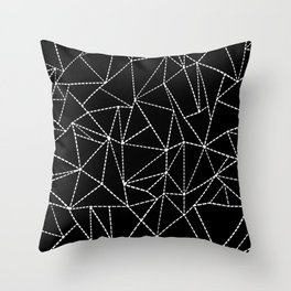 Ab Dotted Lines Throw Pillow