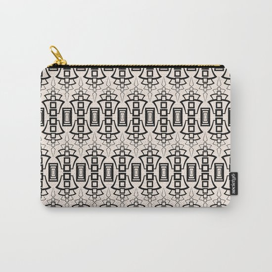 Art Deco . Black and beige pattern . Carry-All Pouch