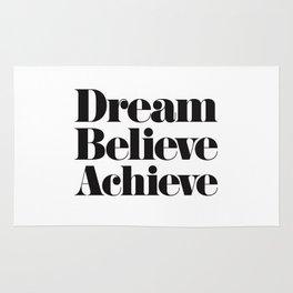 Dream Believe Achieve Rug