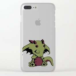 Sleepy Baby Dragon Clear iPhone Case