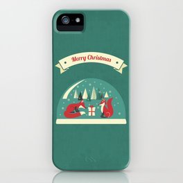 Christmas Foxes iPhone Case