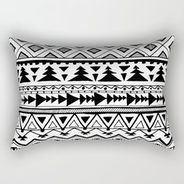 Tribal bohemian Mexican Aztec Style Pattern Doodle Rectangular Pillow