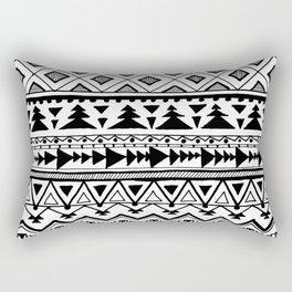 Tribal bohemian Mexican Aztec Style Pattern Doodle Rectangular Pillow