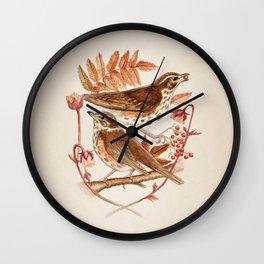 Skógarþrestir Wall Clock