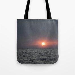 Sunset open sea Tote Bag