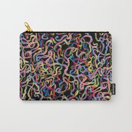 Rainbow Worms Confetti Carry-All Pouch
