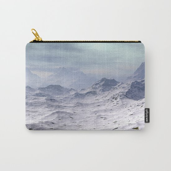 Snow Covered Mountains Carry-All Pouch