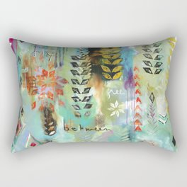 """Fly Free Between"" Original Painting by Flora Bowley Rectangular Pillow"