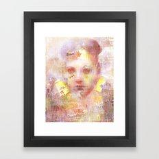 La chica wonder  Framed Art Print