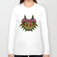 majoras mask Long Sleeve T-shirts featuring Sugarskull / Majoras mask /color by tshirtsz
