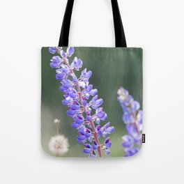 Lupines and dandelions Tote Bag