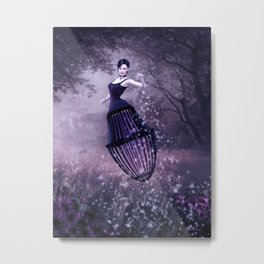 Black magic fairy Metal Print