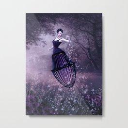 Black magic fairy Metal Print