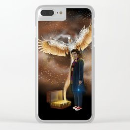 10th Doctor who with thunderbird iPhone, ipod, ipad, pillow case and tshirt Clear iPhone Case