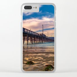 Northside Newport Pier Clear iPhone Case