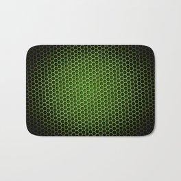 Honeycomb Background Green Bath Mat