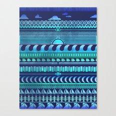Aqua | Tribal Canvas Print