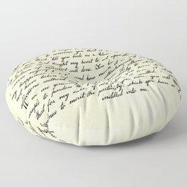 Alexander Hamilton Letter to John Laurens Floor Pillow