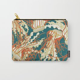 jellyfish blue Carry-All Pouch