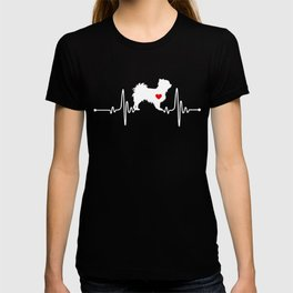Long haired Chihuahua dog heartbeat T-shirt