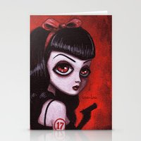 tina Stationery Cards featuring 7-Tina by Dienzo Art