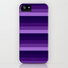 Purple Lavender Indigo stripes iPhone Case
