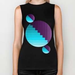 Ups and Down   Deep Within   Purple   Blue   Turquoise Biker Tank