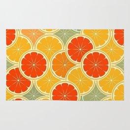Summer Citrus Slices Rug