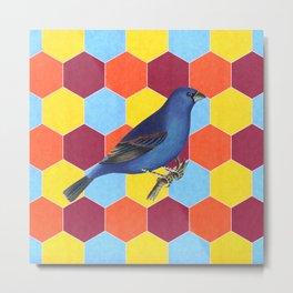 Funky Bird Metal Print