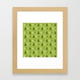 Christmas Trees Pattern Framed Art Print