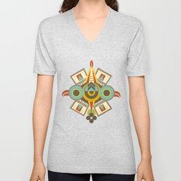 Aztec - Symbol of Ollin Unisex V-Neck