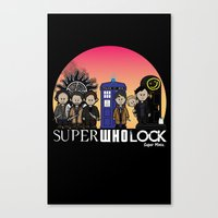 superwholock Canvas Prints featuring Super Who Lock by RooDesign