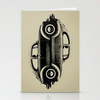 ying yang Stationery Cards featuring VW Ying and Yang by Vin Zzep