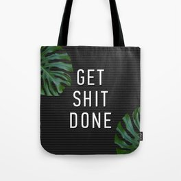 Get Shit Done Letter Board Tote Bag