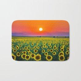 Sunflower Haze Bath Mat