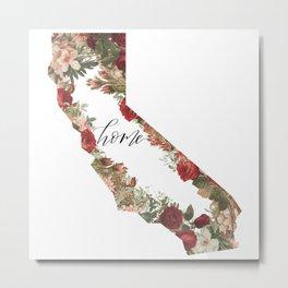 California Floral - Home Metal Print