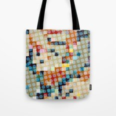 dots meet pixels Tote Bag