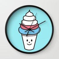 ice cream Wall Clocks featuring Ice Cream by .....