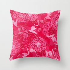 Giardino Pink Throw Pillow