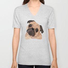 Pug Hug Unisex V-Neck