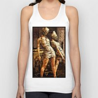 silent hill Tank Tops featuring Deadly Duo Silent Hill Nurses by Joe Misrasi