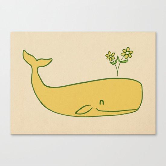Peace Whale - colour option Canvas Print