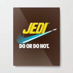 Brand Wars: Jedi - blue lightsaber Metal Print