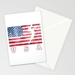 USA Volleyball - Flag of America Stationery Cards